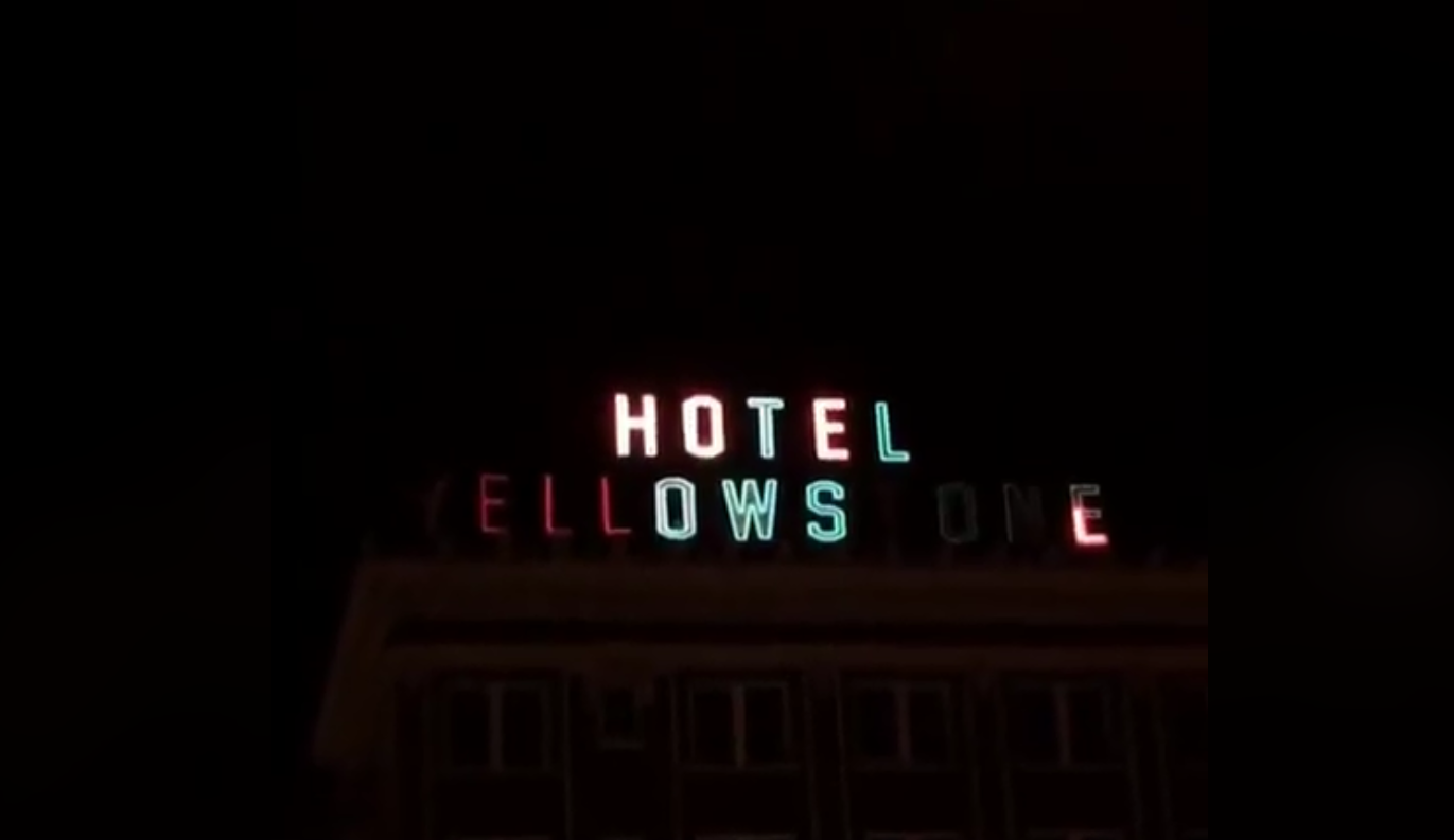 Yellowstone Hotel Neon Sign Re-Lit